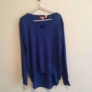 NWT Blue Hi-low Sweater